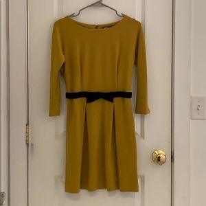 Mustard Yellow A Line Dress